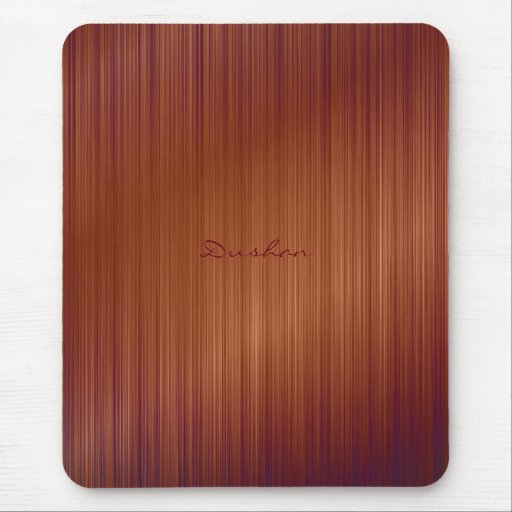 Brown Brushed Metal Mouse Pad Mouse Pads