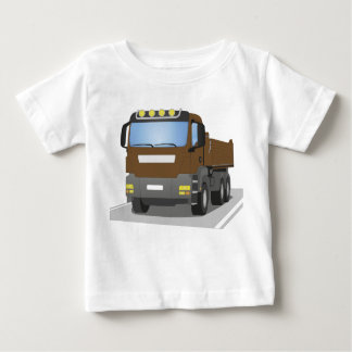brown building sites truck baby T-Shirt