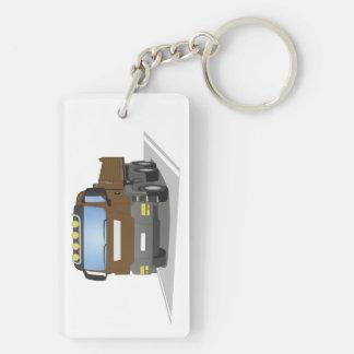 brown building sites truck keychain