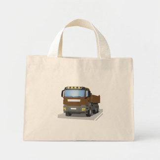 brown building sites truck mini tote bag
