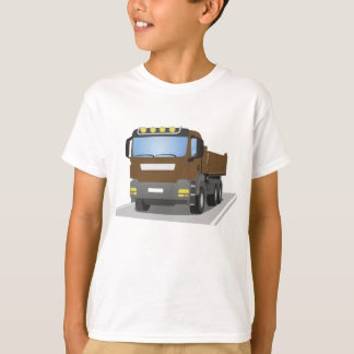 brown building sites truck T-Shirt
