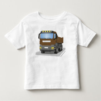 brown building sites truck toddler t-shirt