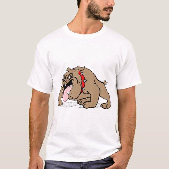 Brown Bulldog with Pink Tongue T-Shirt