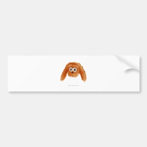 Brown Bunny Critter Car Bumper Sticker