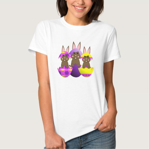 Brown Bunny Easter Eggs Tshirts