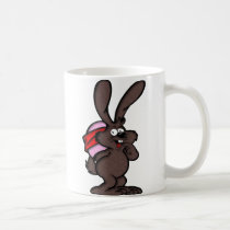 brown, bunny, happy, easter, cups, egg, holiday, Caneca com design gráfico personalizado