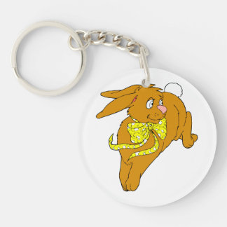 brown bunny hop yellow bow graphic.png keychain