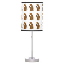 Brown Bunny Rabbit Eating Ice Cream Table Lamp