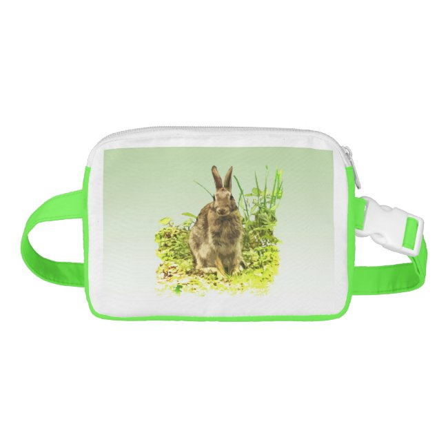Brown Bunny Rabbit in Grass Galaxy Fanny Pack