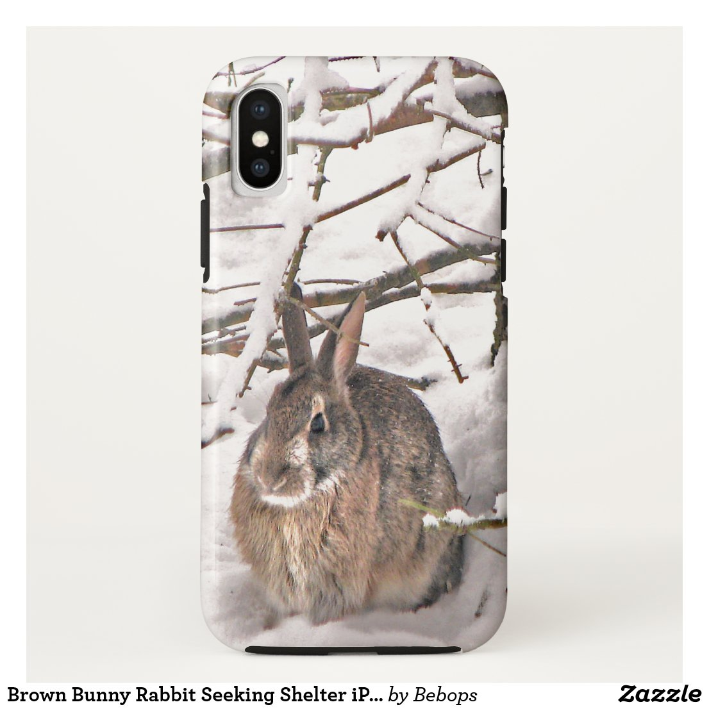 Brown Bunny Rabbit Seeking Shelter iPhone X Case