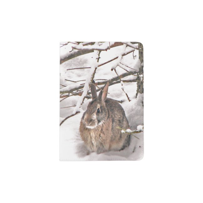 Brown Bunny Rabbit Seeking Shelter Passport Holder