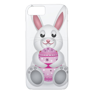 Brown bunny with Easter eggs iPhone 7 Case