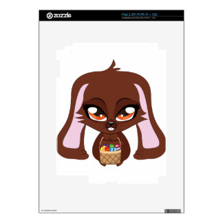 Brown bunny with Easter eggs Skins For The iPad 2