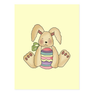 Brown Bunny With Egg T-shirts and Gifts Postcard