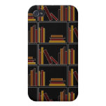 Brown, Burgundy and Mustard Color Books on Shelf. iPhone 4/4S Cover
