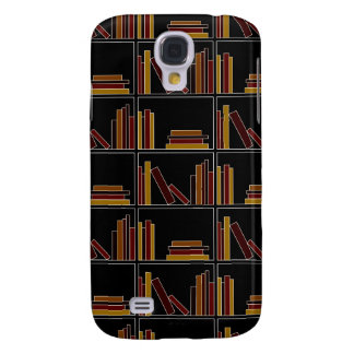 Brown, Burgundy and Mustard Color Books on Shelf. Samsung Galaxy S4 Cover