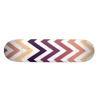 Brown Burgundy Chevron Geometric Designs Color Skateboard
