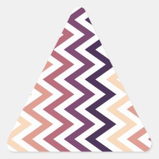 Brown Burgundy Chevron Geometric Designs Color Triangle Sticker