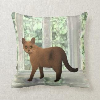 Brown Burmese Cat Pillow
