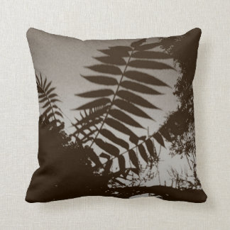 Brown Bush Throw Pillow
