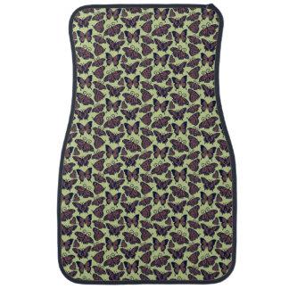 Brown Butterflies on Green Floor Mat