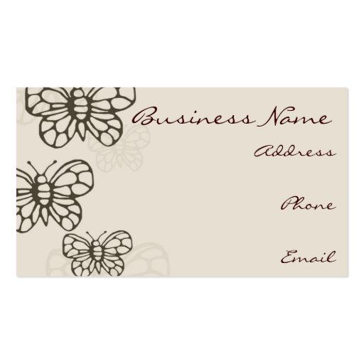 Brown Butterfly Business Card