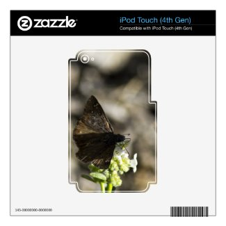 Brown Butterfly Decal For Ipod Touch 4g