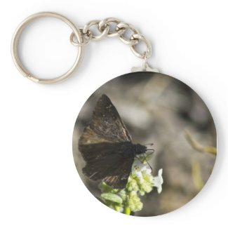 Brown Butterfly Keychain