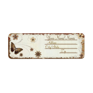 Brown Butterfly Musings Label