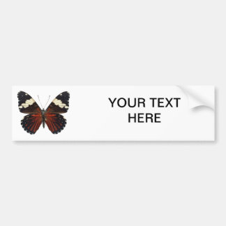 Brown butterfly on any color bumper sticker