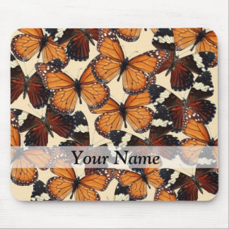 Brown butterfly pattern mouse pad