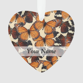 Brown butterfly pattern ornament