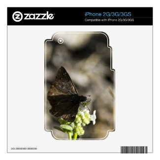 Brown Butterfly Skins For The Iphone 2g