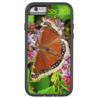 Brown Butterfly with Blue Spots on Lilacs Tough Xtreme iPhone 6 Case