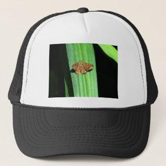 Brown Butterfly with Green Spots on Leaf Trucker Hat