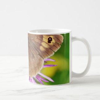 Brown Butterfy on Flower Coffee Mug