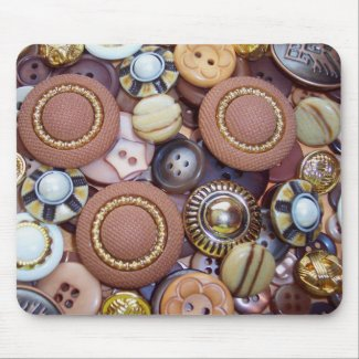 Brown Buttons mousepad