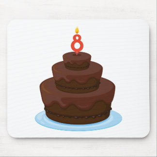 brown cake mouse pad