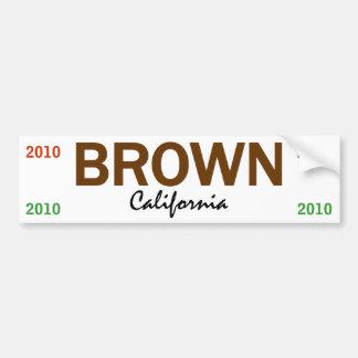 BROWN - California - 2010 Bumper Sticker
