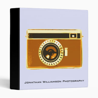 Brown Camera Photography Business Binder