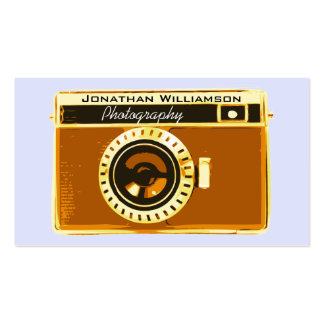 Brown Camera Photography Business Cards