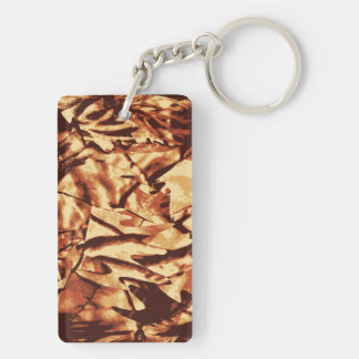 Brown Camo Camouflage Gifts for Hunters Keychain