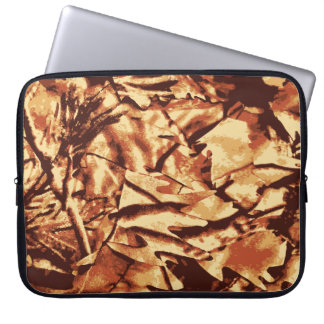 Brown Camo Camouflage Gifts for Hunters Laptop Computer Sleeve