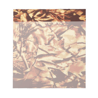 Brown Camo Camouflage Gifts for Hunters Notepad