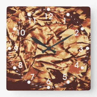 Brown Camo Camouflage Gifts for Hunters Square Wall Clock
