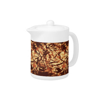 Brown Camo Camouflage Gifts for Hunters Teapot