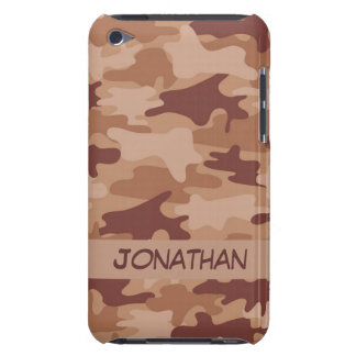 Brown Camo Camouflage Name Personalized Barely There iPod Case