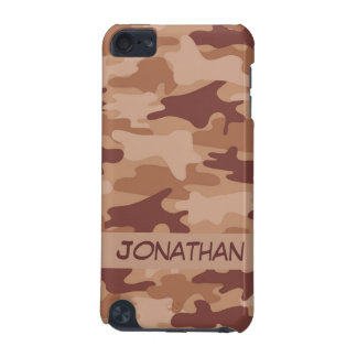 Brown Camo Camouflage Name Personalized iPod Touch (5th Generation) Case