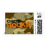 Brown Camo CAMP ROCKS! Stamp