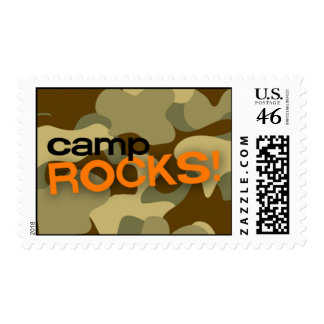 Brown Camo CAMP ROCKS Stamp